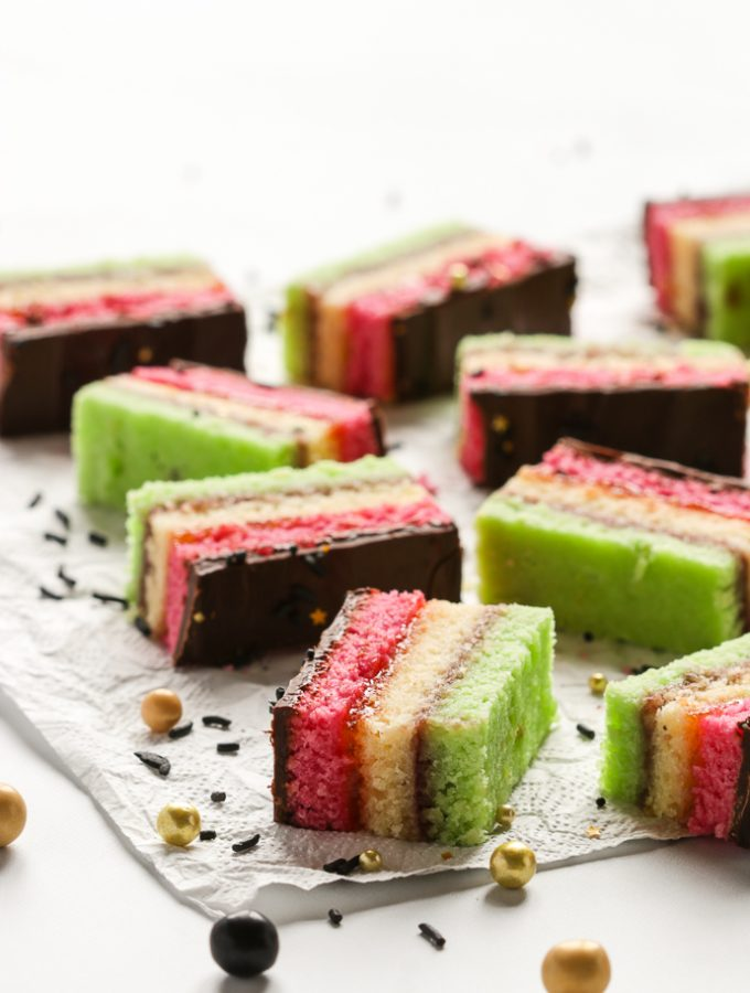 Sliced Italian Rainbow Cookies
