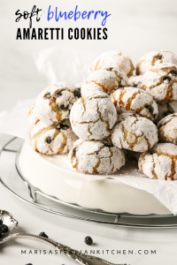 White tray filled with amaretti cookies.