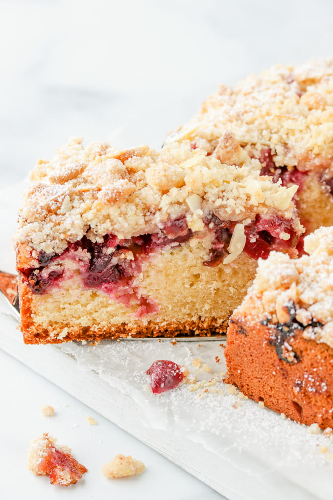 Cherry crumb cake recipe