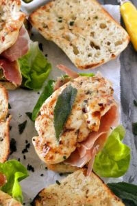 Pan Grilled Chicken Panini