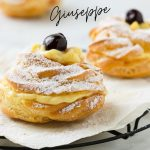 Zeppole di San Giuseppe with custard